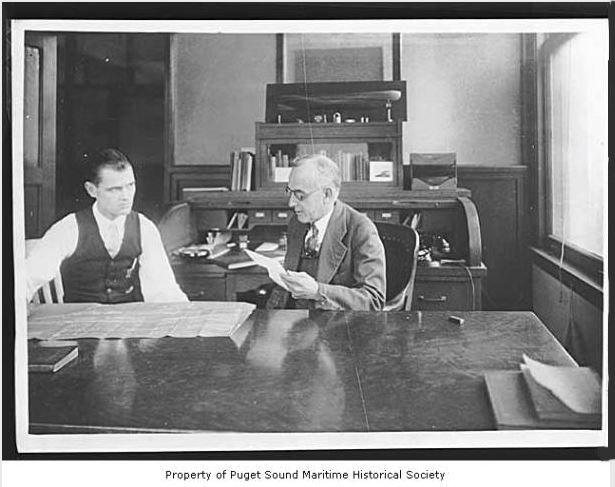 William C. Nickum and son William B. Nickum in their office